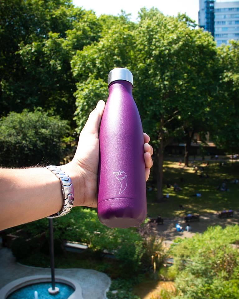 Chilly's Matte Purple 500ml Bottle